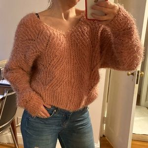 PINK ROSE sweater fits XS and S size
